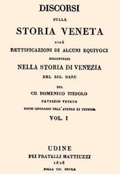 Sommario e Presentazione dei Discorsi sulla Storia Veneta di Domenico Tiepolo, audiolibro
